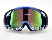 Free shipping hot Blue Adult Motocross ATV Off - Road Eyewear Ski Goggles see colour lens