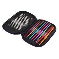 1set Weave Craft Yarn Needle Set Multicolour Aluminum Crochet Hook Knitting Promotion!