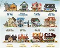 24 Designs DIY 3D World Architecture Paper Model Puzzle Educational Toys for Children House Model Building Kits Kids Toys
