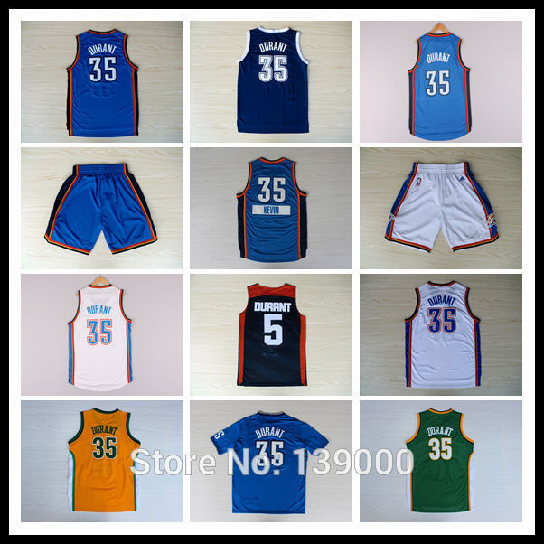 Fast Free Shipping OKC Kevin Durant KD #35 Basketball Jersey, New Meterial Rev 30 Embroidery Basketball Jersey(China (Mainland))