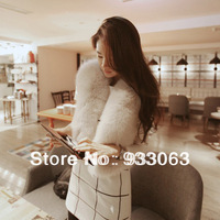 Free shipping 2013 New Fashion Autumn and winter women fur coat overcoat vest Korean Style imitation of rabbit fur  vest