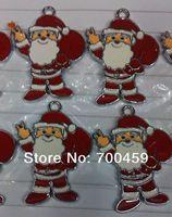 100Pcs Santa Claus  Metal Charms pendants DIY Jewellery Making crafts Christmas