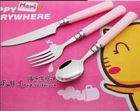 Children's exclusive stainless steel spoon fork cutlery Parure export cartoon spoon fork cutlery