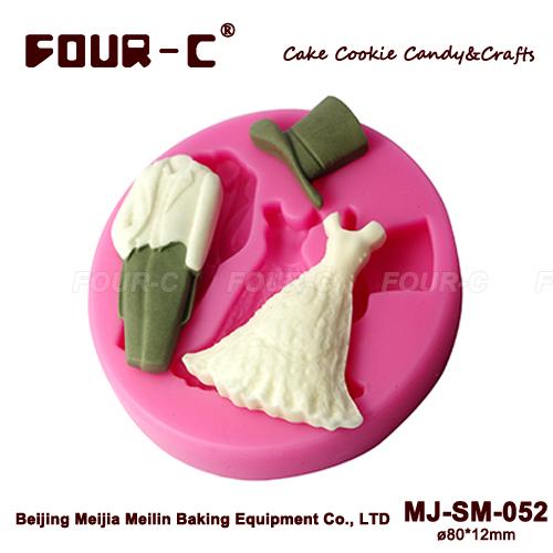 Empreinte en silicone moule fondant, moule de décoration de gâteau de mariage, fondant de fournitures, livraison gratuite
