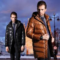 HOYANP 2013 New Autumn -Summer Men's Outdoor Jacket Casual Long Type Men's Winter Down Jackets, White Duck Down,L/XL/2XL/3XL/4XL