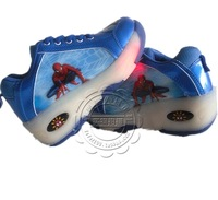 Children Heelys 2014 New Children's Fashion Roller Shoes Spider Man Flashing Light Fashion Sneaekrs With Wheels Skates