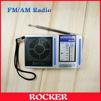 Free Shipping+Kaide KK-222 Portable FM / AM Radio,2-Brand Mini radio(Silver)