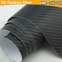 Free shipping waterproof 3D Carbon Fibre Vinyl Sheet Wrap Sticker Film Paper Decal 1270mmx300mm Black New