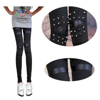 Rivet punk wind together 2013 European and American wind focus of new fashion show thin smile nine points leggings