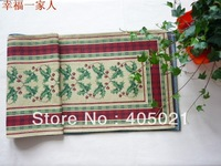 Christmas polyester cotton luxury decoration jacquard brief modern table runners