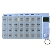 Digital pill box timer 7days pill box with alarm, 7day pillbox  one week pill reminder Free Shipping