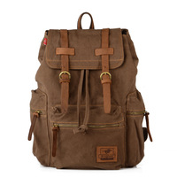 European and Americal style backpack men travel bags 2014 luggage bag canvas genuine leather high quality MC1039