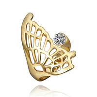 2013 wholesale New arrive 18k GOLD plated women ring yellow butterfly crystal rings Factory Price 1# GS968 (mini order $15)