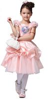 Freeshipping baby Girls Summer Dresses children's FROZEN party dress Girl  short sleeve Dress pink  flower dress