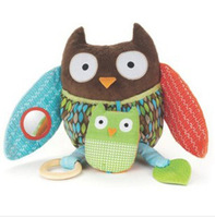 Hot sale USA high quality Love Skiphop multifunctional baby comfort doll baby toy owl monkey bear rattles 5pcs/lot +free gift