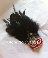 Sale Hot Free Shipping  Design For Your Style Fashion Vintage Mask 30 Feather Ball Brooches Corsage For Your Festival