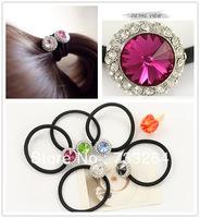 Free Shipping Beautiful Fashion Hair Band Elastic Round Crystal Rhinestone Accessories For Girl Lady Women
