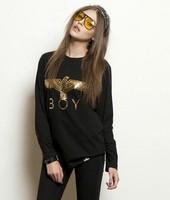 East Knitting Fashion OT-076 Women 2014 sweatshirts Harajuku Punk Gloden eagle pullovers New Arrival hoodies HOT SALE