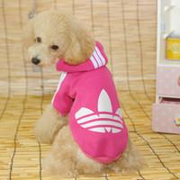 10pc/lot Free shipping factory Sale Pet dog winter brand coat hoody jacket S-XXL black/pink/orange/green/red LPC1013-4