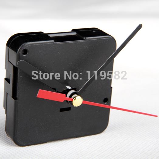 Free Shipping 2pcs/Lot Cheap High Quality Brand Sweep Clock Movement Machine,Quartz Parts Silent Wall Clock Movement Shafts 9MM(China (Mainland))