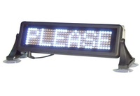 Free Shipping LED car display/LED car sign/ moving sign/programmable sign/ Pixel 7x35 White