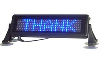 Free Shipping LED car display/LED car sign/ Russian and English remote control/ moving sign/ programmable sign/ Pixel 7x35 Blue