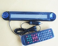 Free Shipping 12Volt 7*40 Blue color Led Car Sign led display moving message window display