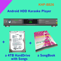 8826(#10)21000 Vietnamese & English songs include 2TB HDD + Android HD karaoke player with HDMI 1080P ,air KTV, build in AGC/AVC