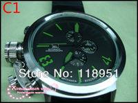 2014Hot new world watches big dial calendar automatic mechanical rubber band multifunction original Swiss luxury men's watch U10