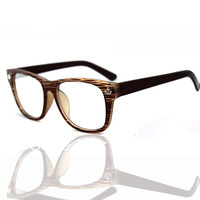 Rivet Plain Glass Spectacles Fashion Retro Glasses Wood With Glasses Frame Plain Mirror Men And Women Free Shipping 1919