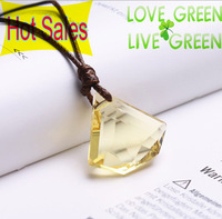 New Arrival Classic Design Crystal Leaf  Mens Women Unisex Couple Pendant Necklace Fashion Jewelry K337x