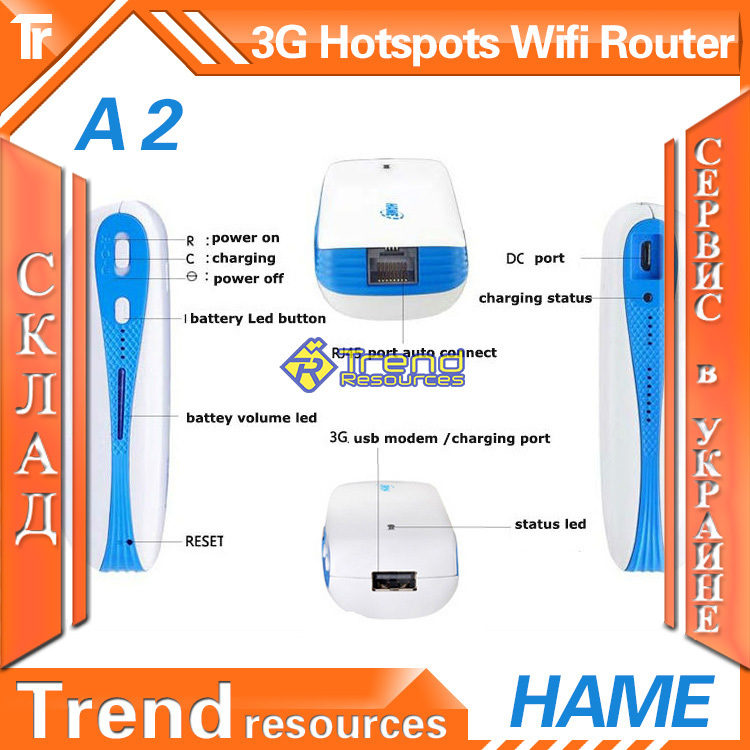 UKRAINE STOCK SERVICE WIFI Repeaters WIFI 3G Wireless Router Mini Portable A100 150Mbps With 5200mAh Mobile Power Bank(China (Mainland))