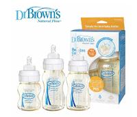 Dr Brown PES UNBreak Anti-Colic baby bottle wide-mouth caliber  baby anti-flatulence bottles set