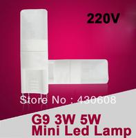 The Newest ce g9 led  bulb  light  3W / 5W Lamp Beads  AC 110v  220V  replace 20 - 25 Watt Halogen lamp  FREE SHIPPING