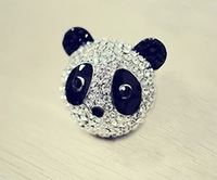 MIn order  $15.0(can mix order )Free shipping Fashion rhinestone panda lady's ring