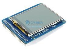 "Wholesale 8Pcs/Lot 2.4"" TFT LCD Module Display + Touch Screen Panel + PCB Adapter 65K Colors #3 TK1105(China (Mainland))"