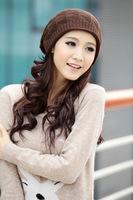 Factory direct handmade crochet Skullies & Beanieshat for woman warm winter hat teemo hat warm hats for women cap hat women's