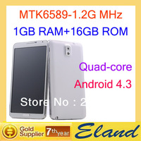 Support for multiple languages N9006 phone 1G Ram+16G Rom MTK6589 1.2G MHz Quad-core Free shipping