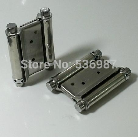 "2 Pcs Free door hinge 3"" Double Action Spring Hinges Door Adjustable Tension(China (Mainland))"