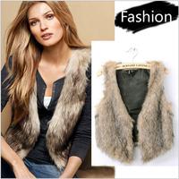 Lady Vest New Spring Autumn Europe and America Short Super Major Suit Faux Fur Shawl For Women Vest Jacket Coat