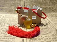 FREE SHIPPING 1 PCS Yellow Lemon Perfume Crystal Chinese Gourd  Ornament #23745