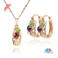 Wholesales Jewelry 18K Gold Plated  Crystal design african costume Jewelry Sets Fashion Jewelry for women CS006