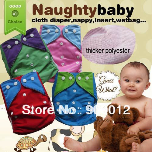Naughty Baby Lovely 30% Off 4 Different Colors 300 pcs Cloth Thicker Special New Diaper covers no inserts Free Shipping(China (Mainland))