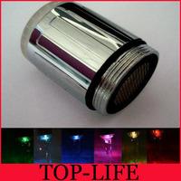 Free shipping 7 color  Glowing LED faucet tap Temperature Sensor LED faucet light Color Change