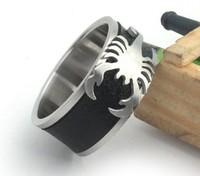 Korean Fashion  Charm Men's Rings Wholesale 316L Stainless Steel Accessories  Scorpion Titanium Steel Ring  jz047