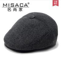 Men's hats, wool hat, Berets,autumn and winter hats, peaked cap, the elderly ear warm hat, forward cap, male cap,free shipping