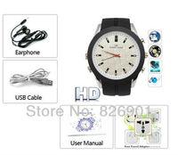 Analog Watch with HD mini Camera & MP3 Player  8g Free  Shipping