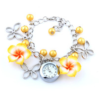 1pcs Women's Bracelet Watch Quartz Flowers Dress Watches Multicolor Analog watch Alloly ladies Wristwatch Dropship
