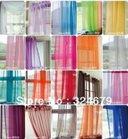 Free Shipping fashion europe gauze curtain Voile curtain  20 colors size 140cm*260cm wholesale 4pcs/lot