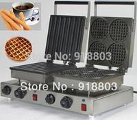Doulbe-Head 220v Electric Churros Machine+ Round Waffle Maker Machine Baker